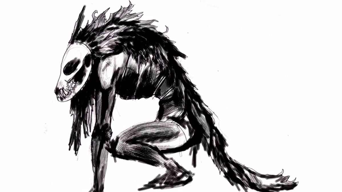 bowsie workshop a dark song demon creature concept design sketch