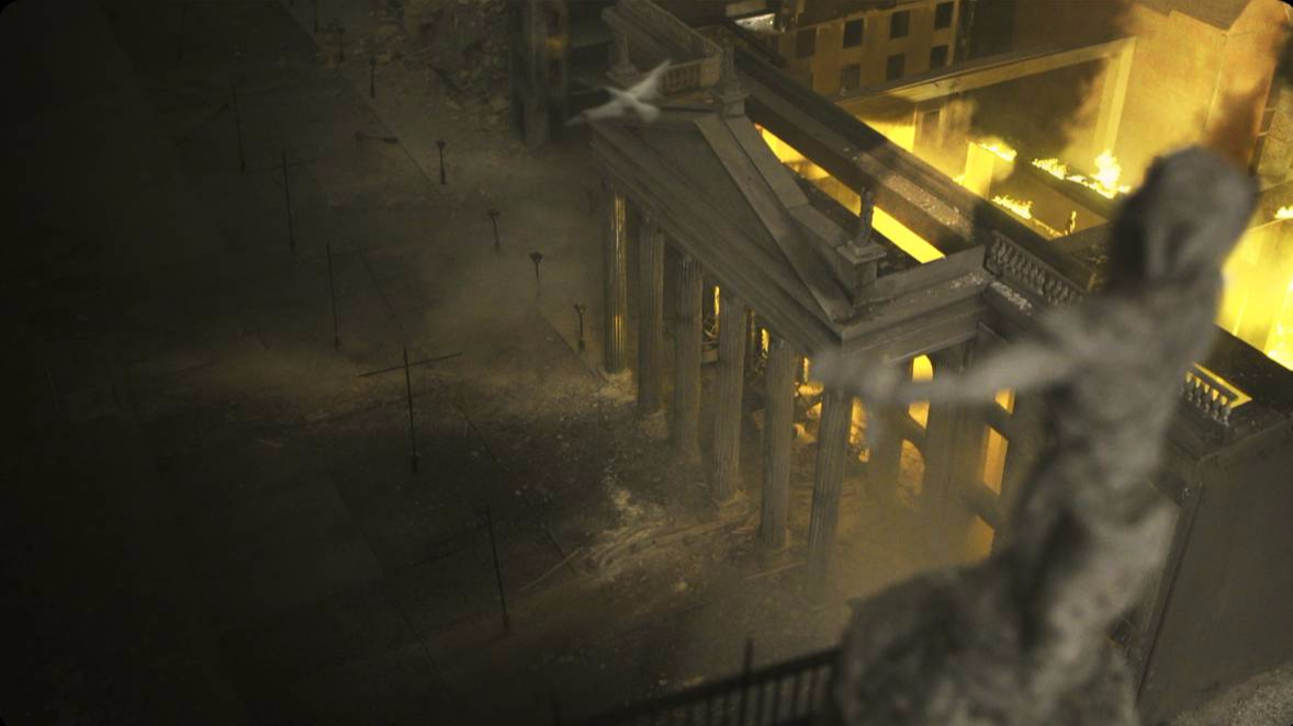 scale model GPO on fire dublin 1916 easter rising