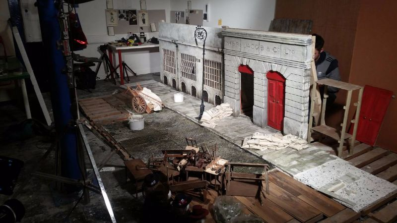 a terrible hullabaloo miniature set of jacobs biscuit factory dublin 1916