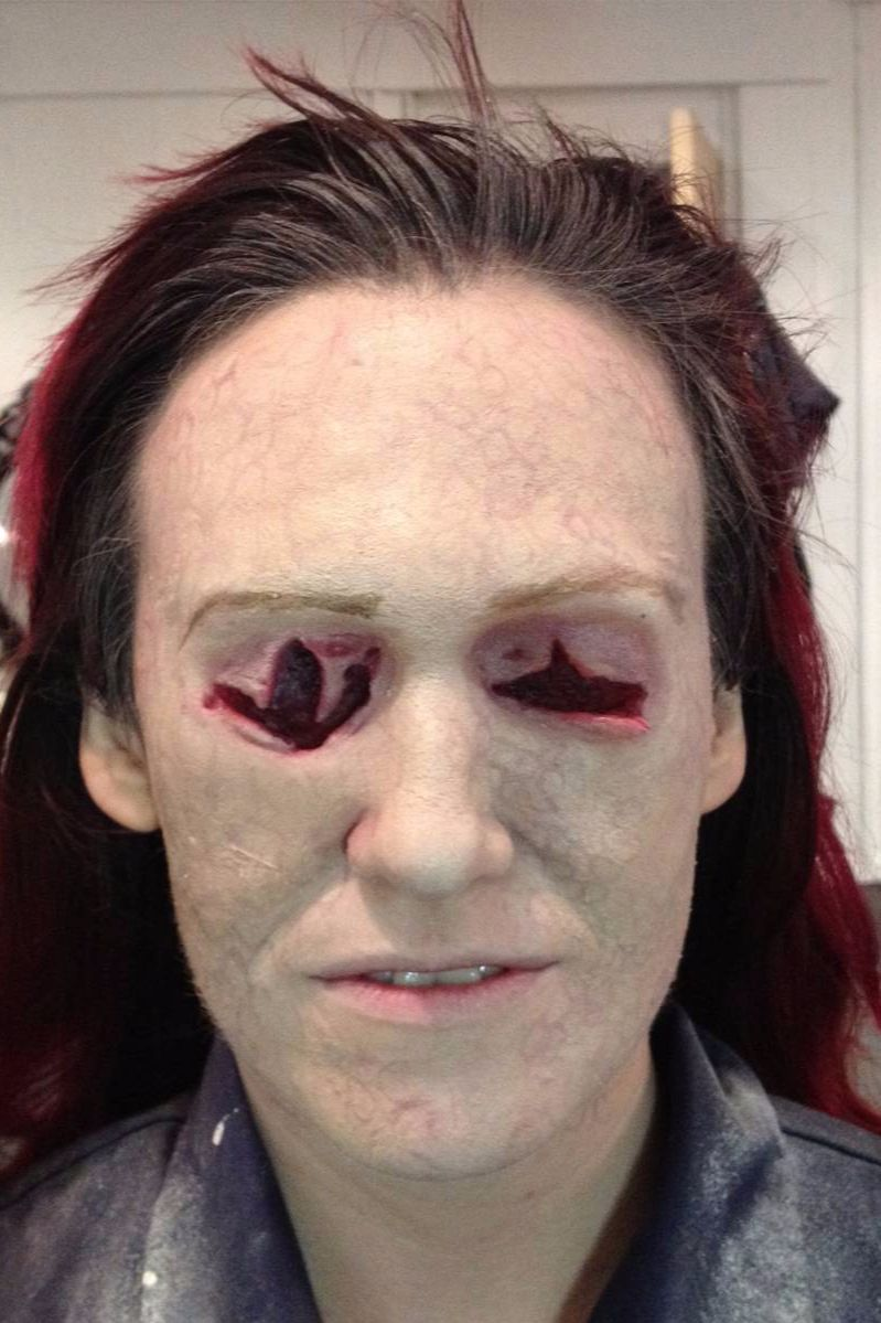 prosthetic sfx make up missing eyes bowsie workshop