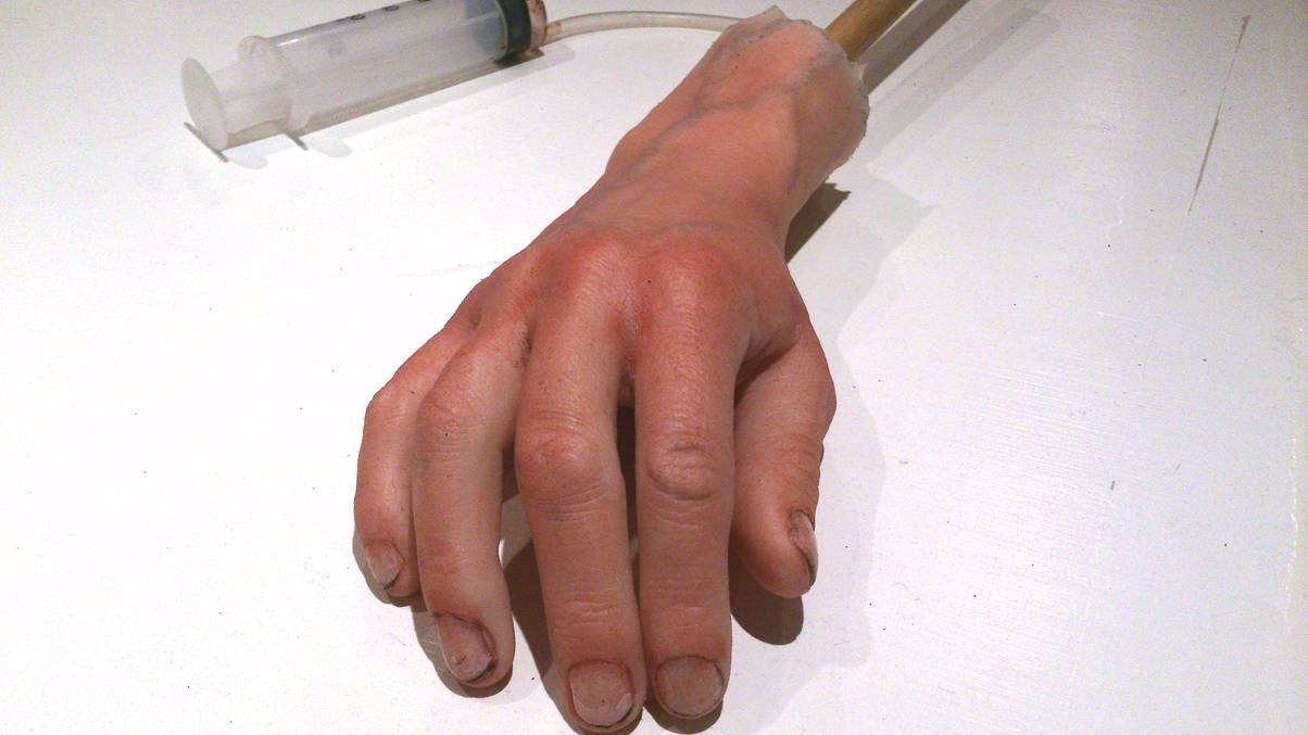 silicone hand prop